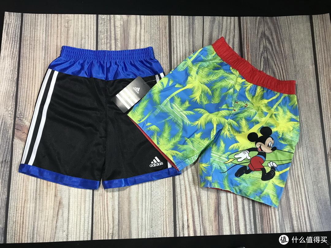 从小就得三道杠:Adidas 阿迪达斯 以及 Disney 迪士尼 儿童短裤