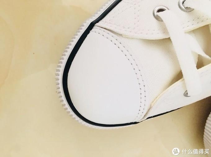 减龄神器小白鞋—HOZ 后街 帆布休闲鞋 开箱
