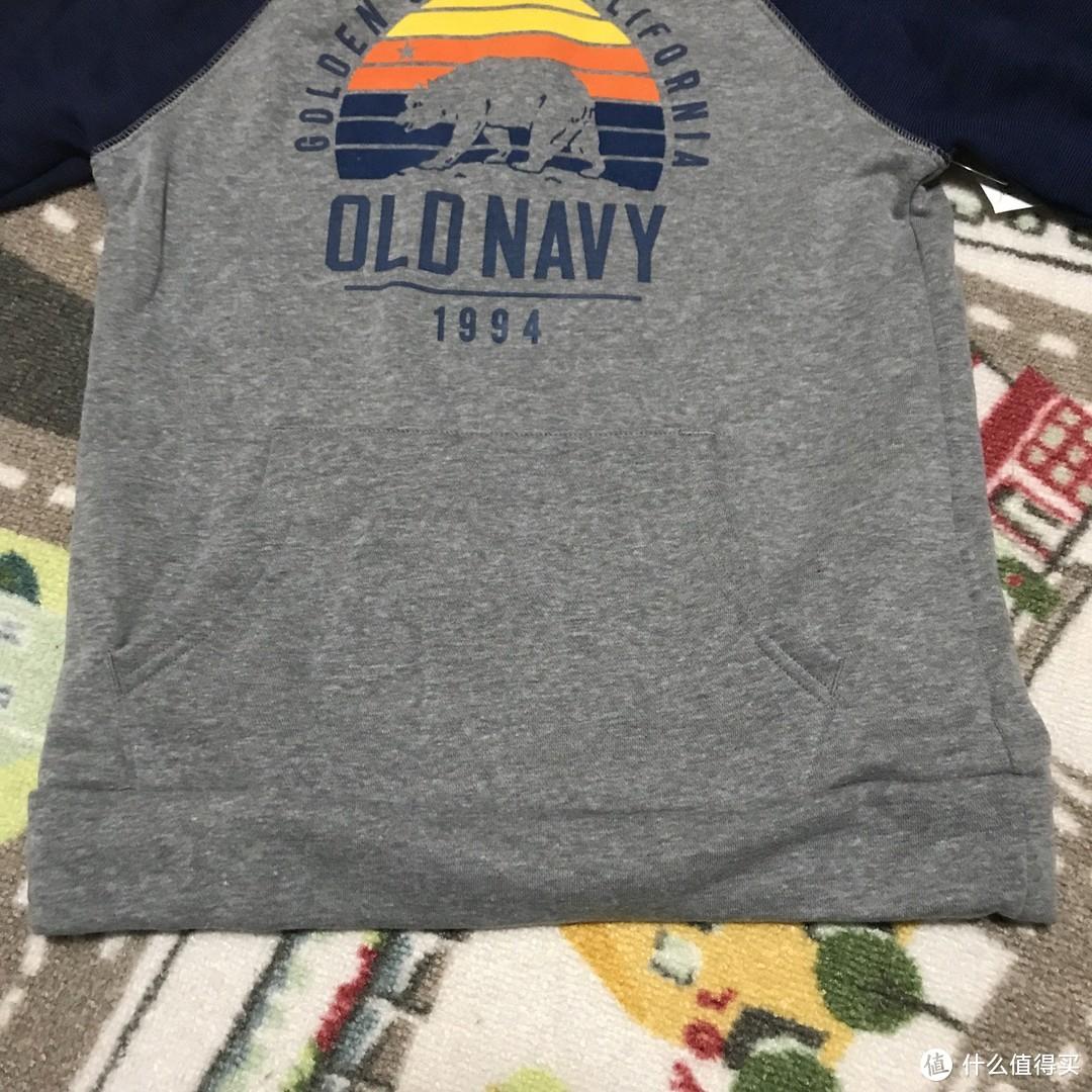 Old Navy男童徽标logo连帽卫衣