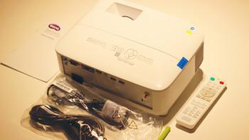 明基 E580 投影仪开箱展示(包装|主机|LOGO|散热孔|接口)