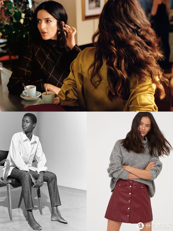 上:年轻路线的&other stories 左下:简洁优雅的COS 右下:基础款H&M