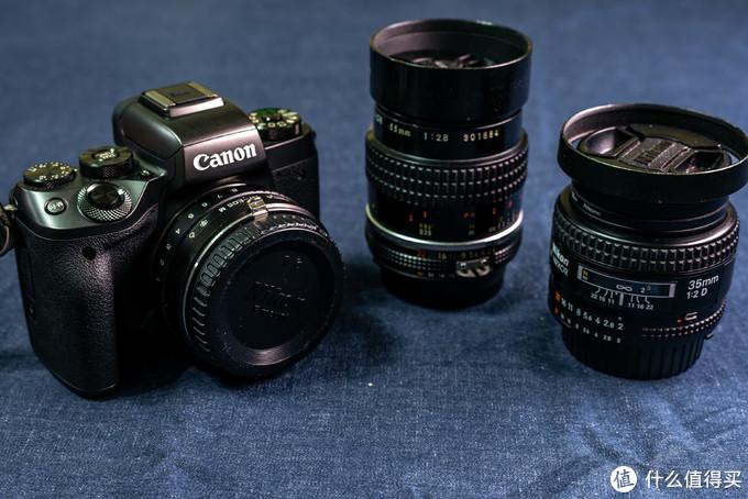 EOS M5+移轴转接环+Nikkor AF 35mm 2D & AIS 55mm 2.8Marco