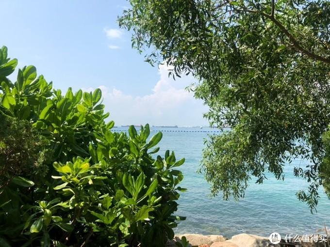 对面就是马六甲海峡,据说在鱼尾狮爸爸嘴里可以远眺印度尼西亚