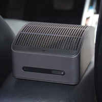 70迈 Midrive AC01-1空气净化器外观展示(指示灯|出风口|电源线|车充)