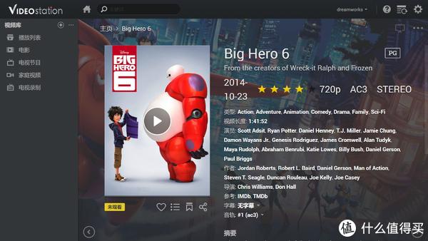 试着点击Big Hero 6的海报,进入影片详情页
