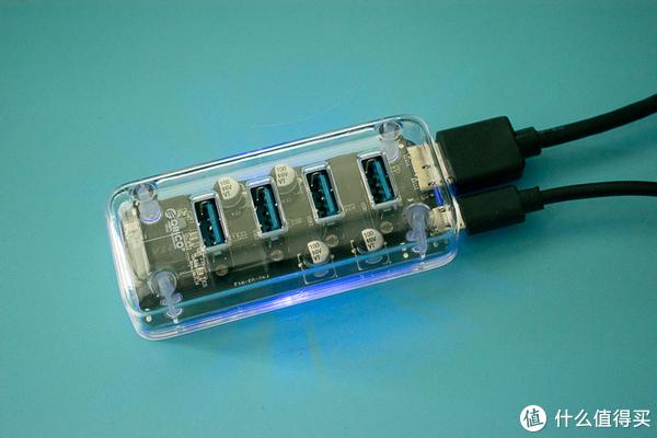 让桌面更漂亮,手指大的透明USB 一分四高速集线器