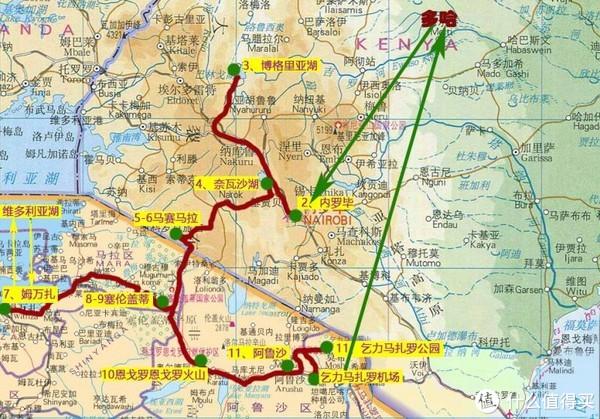 团友绘制的行程路线示意图