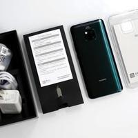 华为Mate 20Pro手机开箱展示(接口|刘海屏|听筒|按键|天线条)