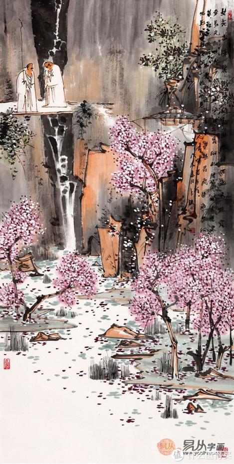 中美协画家鞠占圃画作欣赏之一:溪深将谓人静