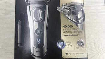博朗9系剃须刀开箱展示(包装|刀片|刀头|效果)
