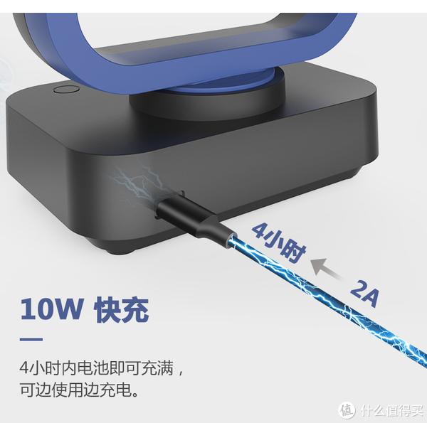 10W-2A快充,充电时间快一倍,4小时就可以充满电,还能边使用边充电