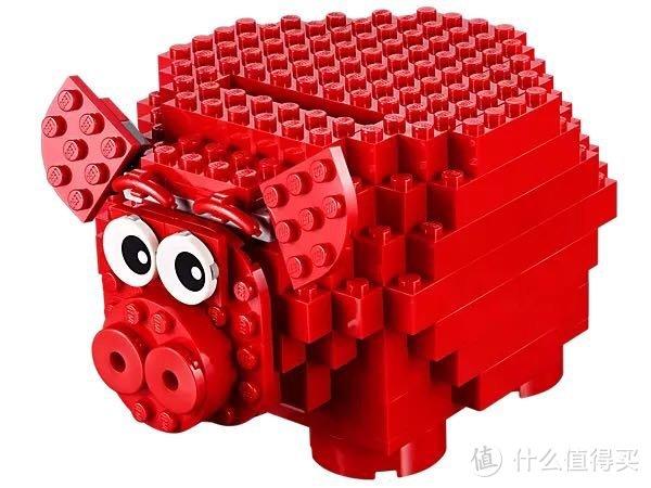 乐高创意散砖你都拼了啥?分享我的购买及拼搭历程,晒晒最新作品小猪存钱罐