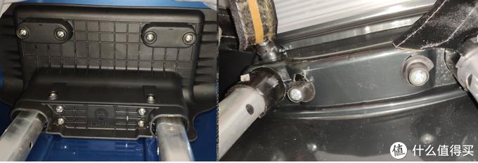 拉杆顶部的固定可以看到interight箱把拉手和拉杆做在一起,这样在箱内内固定的面积更大,受力更好。固定方式看起来要比新秀丽的更结实。