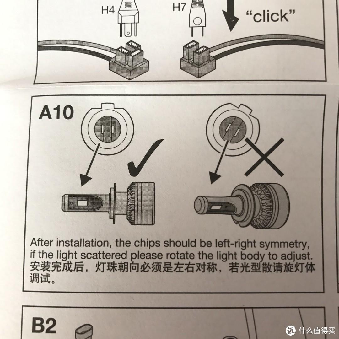 LED芯片要调整到这样左右对称。