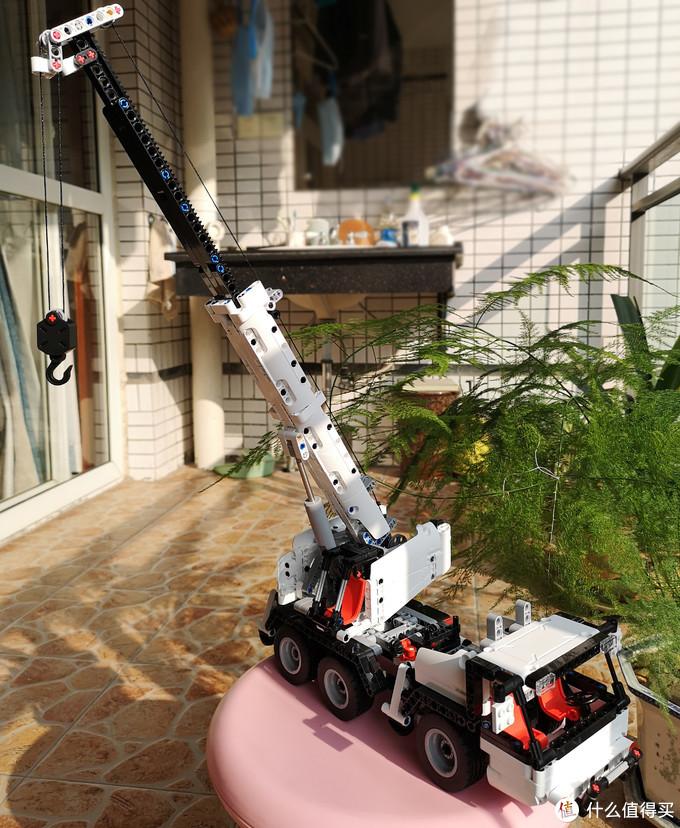 """我的第一台""""吊车""""——小米 米兔积木工程吊车"""