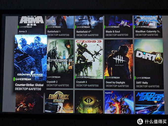 GameStream,需要N卡支持,串流PC游戏,试了几款
