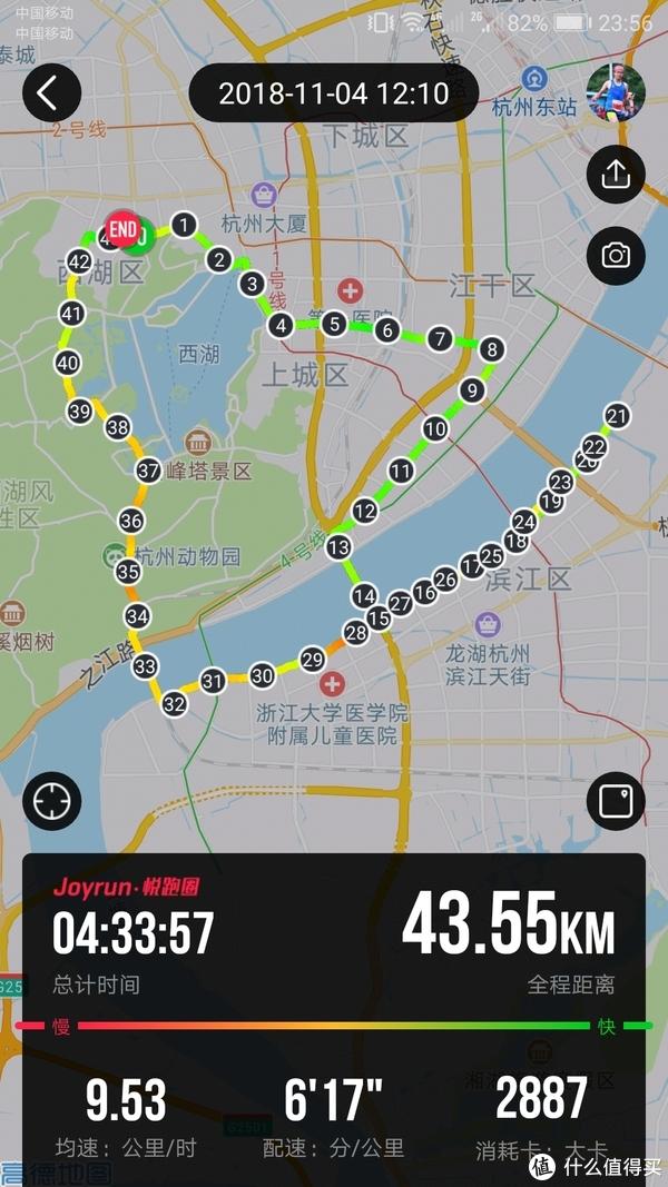 跑过风景跑过你—2018.11.4杭州马拉松