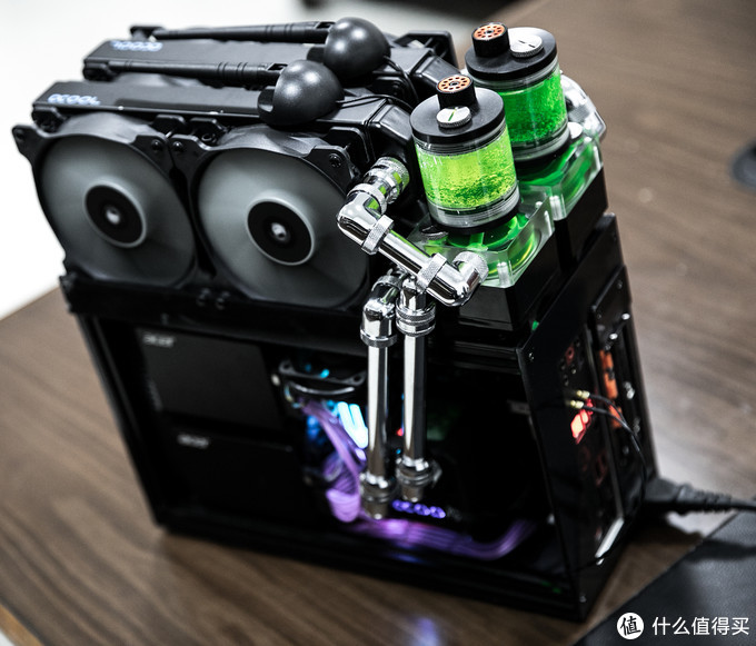 15L ITX小钢炮,3泵2路金属硬管水冷,肉夹馍散热方案
