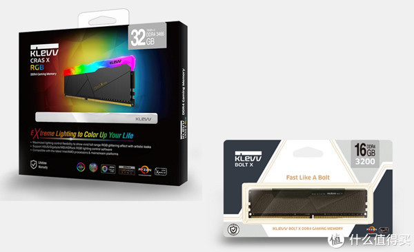 支持RGB幻彩同步: KLEVV 科赋 发布 KLEVV BOLT X RGB、BOLT X DDR4内存