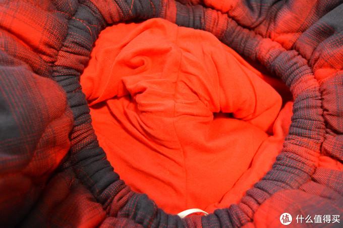 美标睡衣 夹棉家居服套装 灰兰/大红 晒单