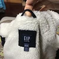 盖璞 370502  儿童羊羔绒加绒外套外观展示(领口 洗标 尺码 吊牌 纽扣)