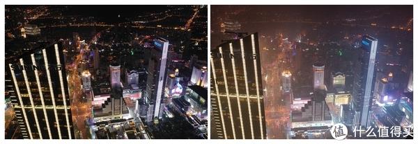 左为PM2.5 10左右时拍摄,右为PM2.5 60左右拍摄