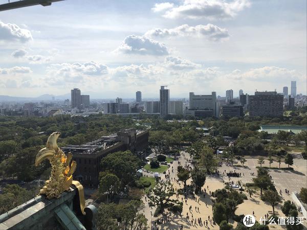 顶部可以俯瞰大阪城,景致绝佳