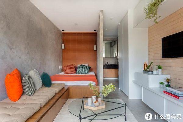 27㎡狭隘空间中的格调生活,功能齐全的一厅室公寓