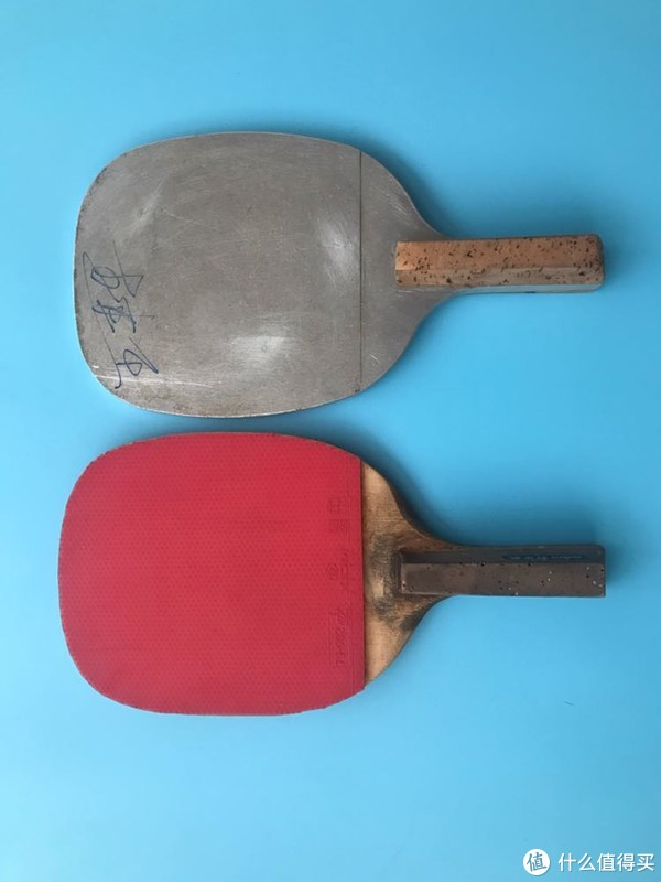 王建军签名版铁制日直乒乓球拍