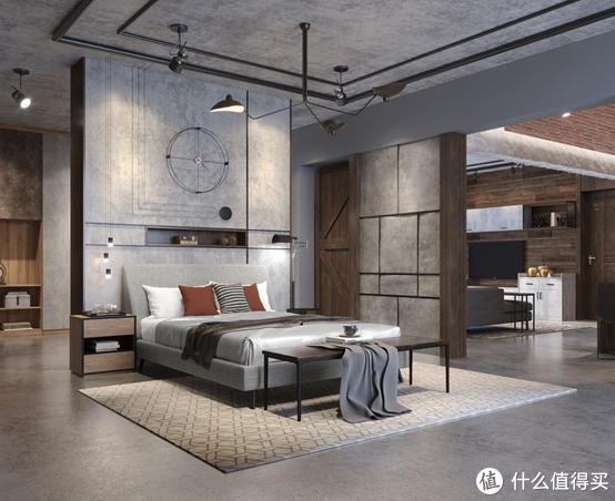 现代工业风奥芬巴赫空间套系,卧室空间