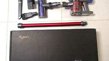 戴森 V6 Fluffy 吸尘器外观展示(滤网|机身|吸头)