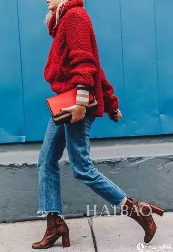 冬季宽松版型的毛衣,搭配这些裤子显高显瘦,