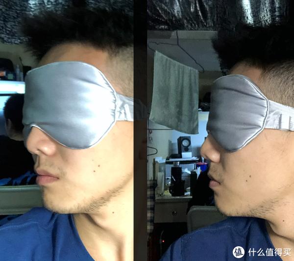 眼罩佩戴侧脸图