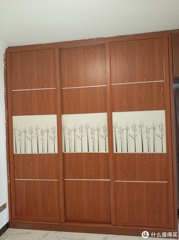 次卧室衣柜(做门之后)