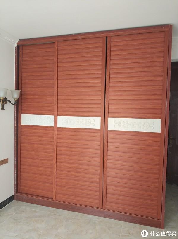 主卧室衣柜(做门之后)