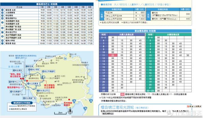 樱岛渡轮和巴士时刻表