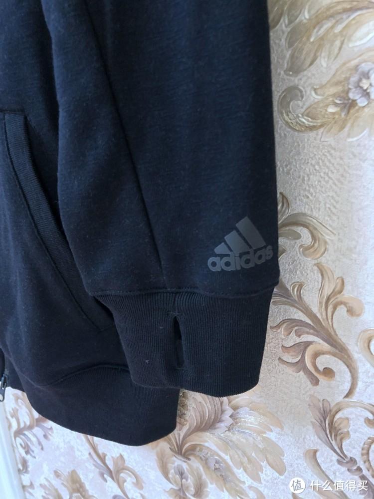 换季购买正当时—Adidas 阿迪达斯 DX5438 FULL ZIP HOODIE 男篮球外套 开箱简评