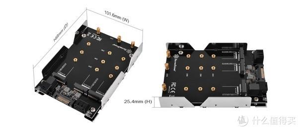 支持扩展3/4路M.2:Silver Stone 银欣 发布 SDP11 和 SDP12 M.2 SSD 扩展转接盒
