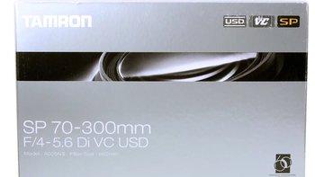 腾龙A005镜头外观展示(遮光罩|口径|镜身带|指示窗|金圈)