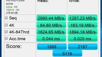 海康威视 C2000 512G固态硬盘使用总结(读写速度|负载|性能|清理缓存|软件)