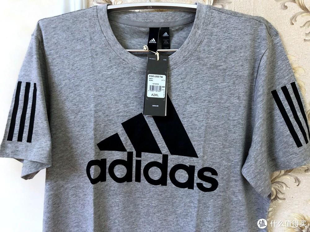 花一件钱买两件—Adidas 阿迪达斯 男子运动短袖T恤 DM7274 CV4506 开箱简晒