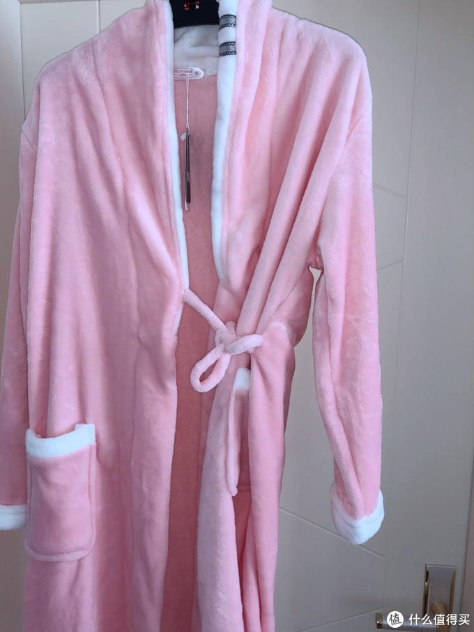 好价且舒服-米翡莉 女士 加厚法兰绒 浴袍睡衣