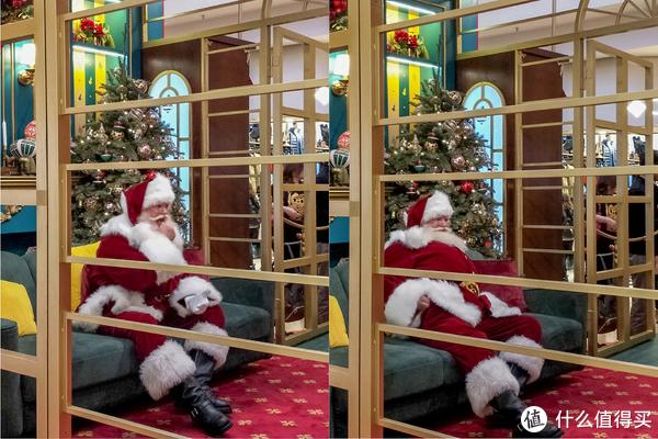 以为圣诞老人在吃药,好可怜,以为是合照太久,累了。后来仔细看原来是口香糖hhh