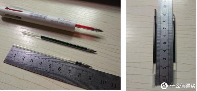来看下笔芯是多么短小 左侧Zebra模块笔替芯VS右侧这款笔替芯