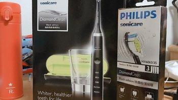 飞利浦 HX9352/04 电动牙刷使用总结(刷头|玻璃杯)