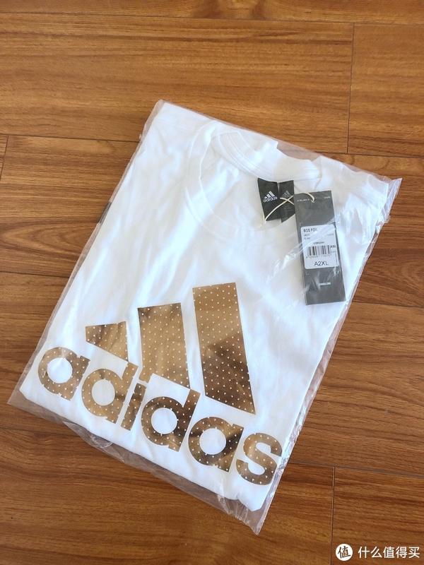 阴差阳错买给了老婆 阿迪达斯adidas BOS FOIL 男子 短袖T恤 CV4509 开箱试穿