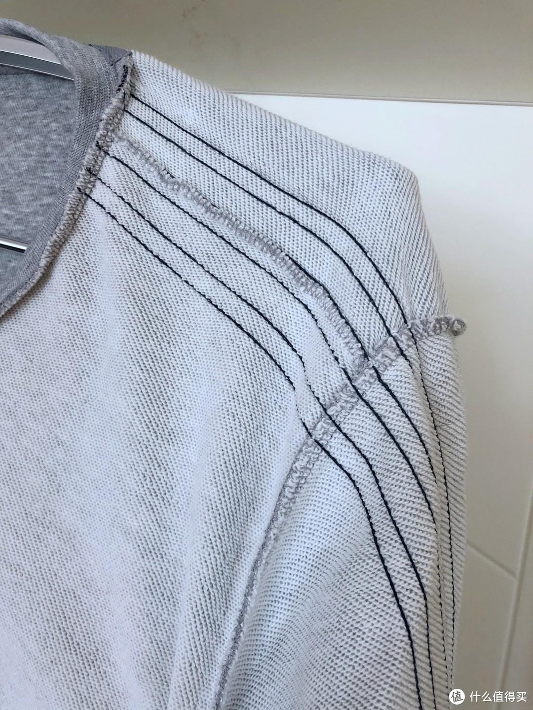 很舒服的套头衫— adidas 阿迪达斯 运动型格 BR1033 男子套头衫