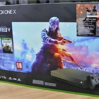 微软 Xbox One X 1TB 游戏主机外观展示(散热口|正面)