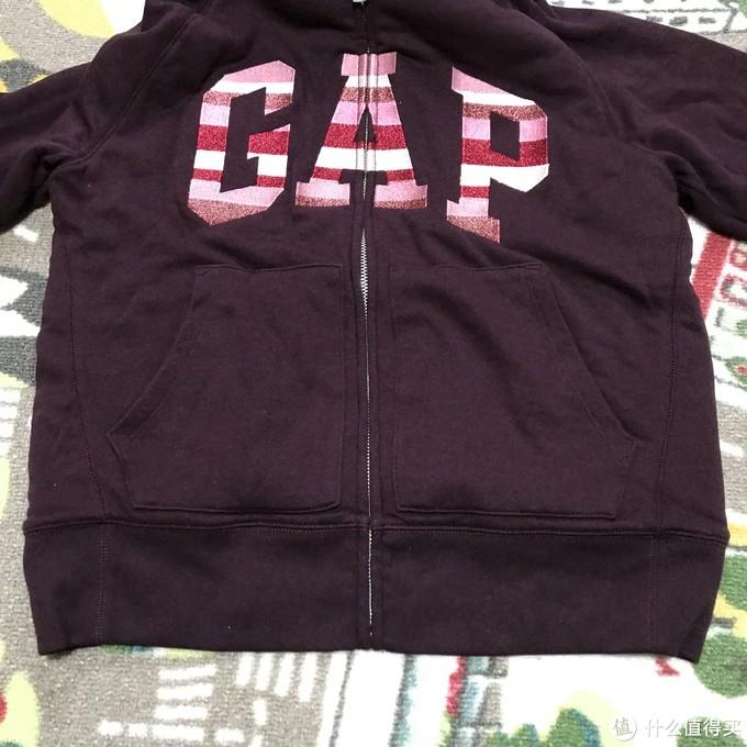 应季保暖!Gap Logo徽标仿羊羔绒衬里连帽卫衣