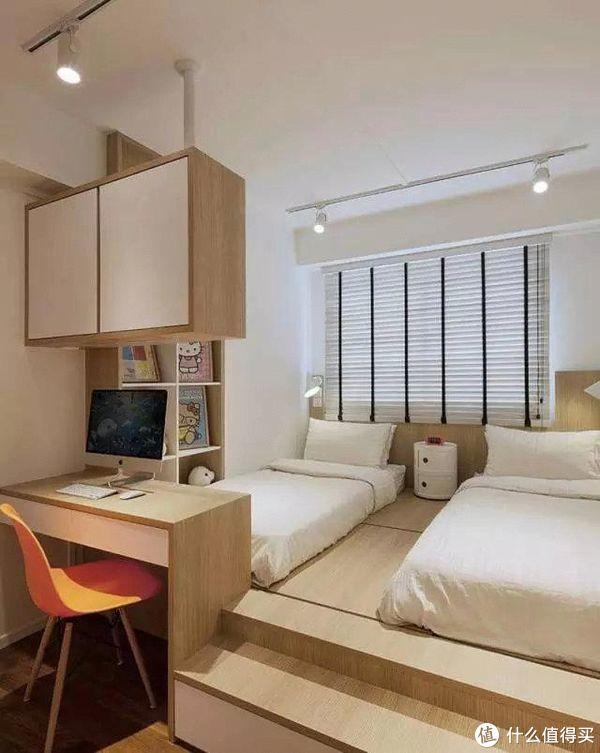 地台榻榻米卧室正流行,有钱人也爱这种设计!